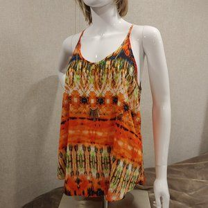by&by Strappy Boho Racer back Top w/ Necklace
